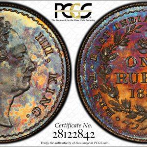 1834 Pattern Rupee PCGS PR 65-min